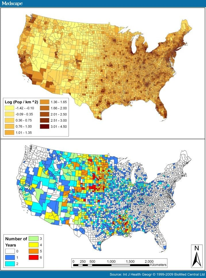 SpatioTemporal Cluster Analysis Of CountyBased West Nile Virus - Us mosquito population map