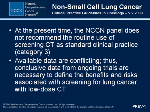 non small cell lung cancer guidelines