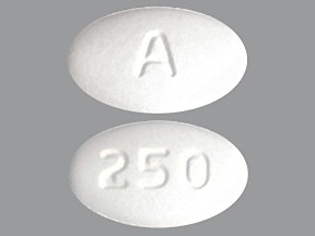 This medicine is a white, oval, tablet imprinted with