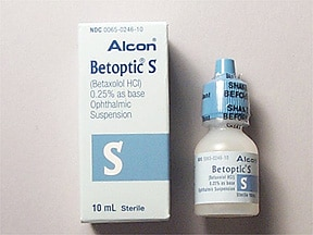 Betoptic S 0.25 % eye drops,suspension