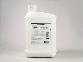 peg 3350 240 gram-electrolytes 22.72 gram-6.72 g-5.84 g powdr for soln