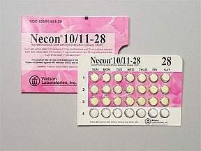 Necon 10/11 (28) 0.5 mg-35 mcg(10)/1 mg-35 mcg(11) tablet