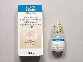 neomycin 1.75 mg-polymyxin 10,000 unit-gramicidin 0.025mg/mL eye drops