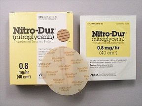 Nitro-Dur 0.8 mg/hr transdermal 24 hour patch