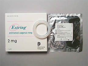 Estring 2 mg (7.5 mcg/24 hour) vaginal ring