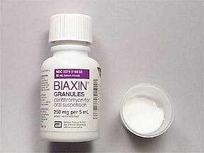 Biaxin 250 mg/5 mL oral suspension