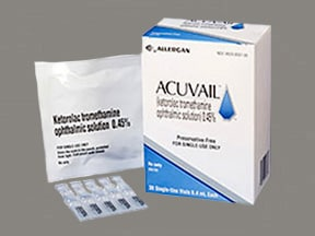 Acuvail (PF) 0.45 % eye drops in a dropperette