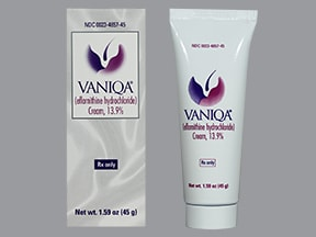 Vaniqa 13.9 % topical cream