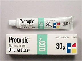 Protopic 0.03 % topical ointment