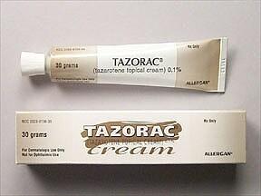 Tazorac 0.1 % topical cream