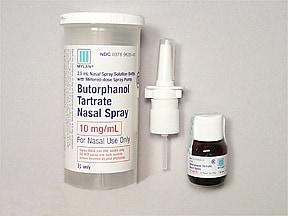 butorphanol tartrate 10 mg/mL nasal spray