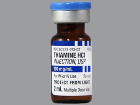 thiamine HCl (vitamin B1) 100 mg/mL injection solution