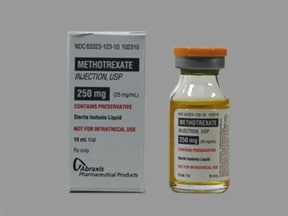 methotrexate sodium 25 mg/mL injection solution