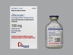 Abraxane 100 mg intravenous suspension