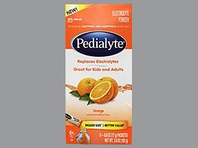 Pedialyte 10.6 mEq-4.7mEq/9 gram oral powder packet