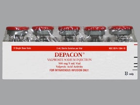 Depacon 500 mg/5 mL (100 mg/mL) intravenous solution
