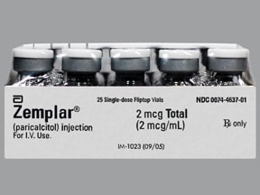 Zemplar 2 mcg/mL intravenous solution