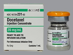 docetaxel 20 mg/mL (1 mL) intravenous solution