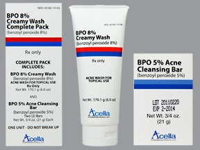 BPO Creamy Wash Pack 8 %-5 % Topical