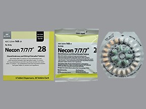 Necon 7/7/7 (28) 0.5 mg/0.75 mg/1 mg-35 mcg tablet