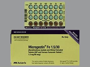 Microgestin Fe 1.5/30 (28) 1.5 mg-30 mcg (21)/75 mg (7) tablet