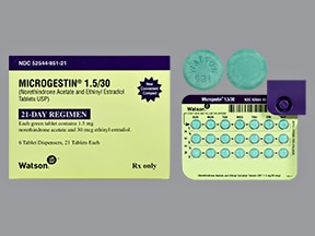 Microgestin 1.5/30 (21) 1.5 mg-30 mcg tablet