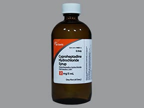 cyproheptadine 2 mg/5 mL syrup