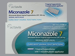 Miconazole 7 100 mg vaginal suppository