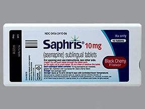 Saphris (black cherry) 10 mg sublingual tablet