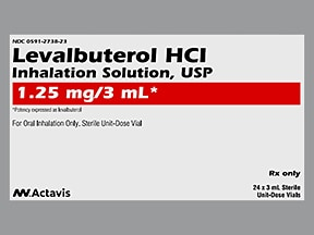 levalbuterol 1.25 mg/3 mL solution for nebulization