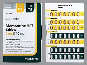 memantine 5 mg-10 mg tablets in a dose pack