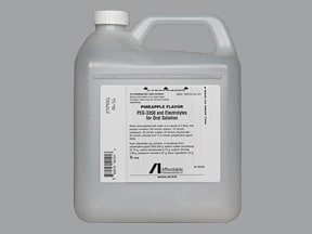 peg 3350-electrolytes 236 gram-22.74 gram-6.74 gram-5.86 gram solution