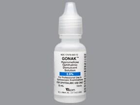 Gonak 2.5 % eye drops