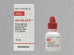 phenylephrine 10 % eye drops