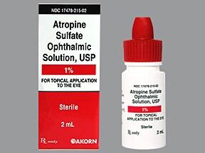 atropine 1 % eye drops
