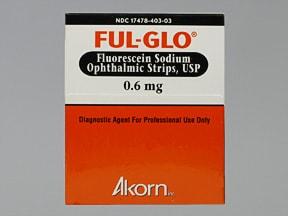 Ful-Glo 0.6 mg eye strips