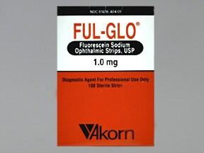 Ful-Glo 1 mg eye strips