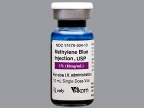 methylene blue (antidote) 1 % (10 mg/mL) intravenous solution