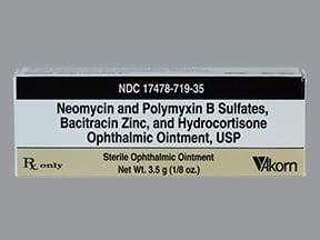 neomycin-bacitracin-poly-HC 3.5 mg-400-10,000 unit/g-1 % eye ointment