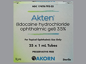 Akten (PF) 3.5 % eye gel