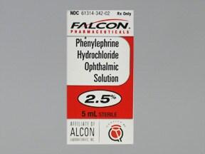 phenylephrine 2.5 % eye drops
