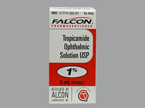 tropicamide 1 % eye drops