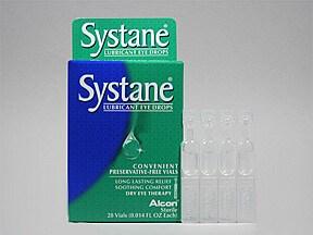 Systane (PF) 0.4 %-0.3 % eye drops in a dropperette