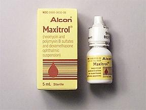 Maxitrol 3.5 mg/mL-10,000 unit/mL-0.1% eye drops,suspension