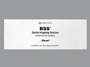 BSS intraocular solution