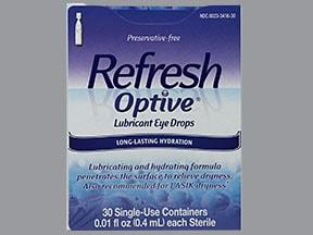 Refresh Optive Sensitive (PF) 0.5 %-0.9 % eye drops in a dropperette