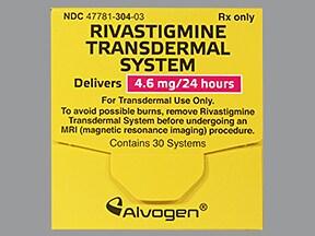 rivastigmine 4.6 mg/24 hour transdermal patch