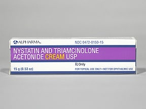 nystatin-triamcinolone 100,000 unit/g-0.1 % topical cream