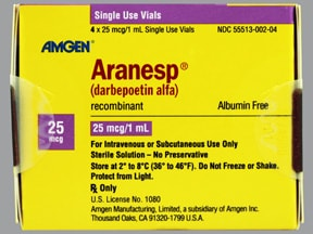Aranesp 25 mcg/mL (in polysorbate) Injection