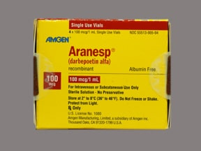 Aranesp 100 mcg/mL (in polysorbate) Injection